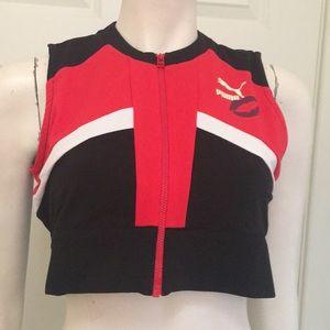 Puma Maybelline New York Athletic Zip Crop, L, NWT